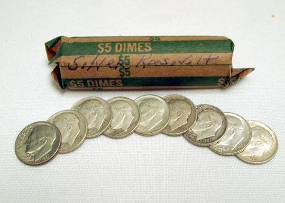 9 dimes