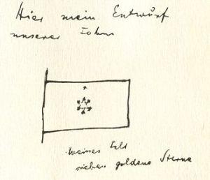 Herzl_sketch_flag
